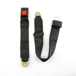 Wholesale Car Seat Belt Universal - 3C Authentication Universal 2 bolt points Car Seat Belt Lap Belt Two Point Adjustable Safety Best Quality
