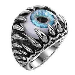 Wholesale Men S Cluster Rings - Creative exaggerated personality Demon Eye Stainless Steel Ring Men 's titanium steel ring United States Size 8 9 10 11