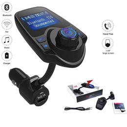 2019 iphone bluetooth carro acessórios T10 Car Kit Display LED MP3 Player De Áudio Bluetooth Transmissor FM Suporte TF Cartão USB Sem Fio Bluetooth Car de carregamento DHL freeOTH653