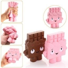 Wholesale pink bread - 12cm Kawaii Squeezed Squishy Jumbo Chocolate Slow Rising Soft Cute Hand Pillow Cream Scented Bread Squeeze Hand Wrist Gift Stress Toy