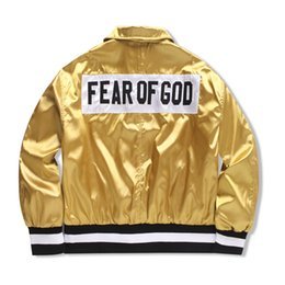 Wholesale God Pink - FEAR OF GOD 1987 Collection Women Men Jacket JUSTIN BIEBER High street Clothes Clothing FOG Single Breasted Jackets Coats