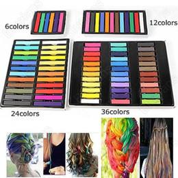 Wholesale Hair Color Chalk Soft Pastels - Easy Temporary Colors Non-toxic Hair Chalk Dye Soft Hair Pastels Kit 36 Color Set Hair Beauty Care 04TM 7GPK A4KG