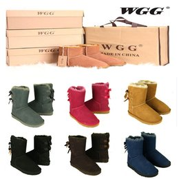 Wholesale Girls High Tops Heels - 2017 Top Quality WGG Women's Australia Classic tall Boots Women girl boots Boot Snow Winter boots leather shoes US SIZE 5--10