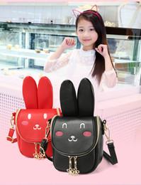 Wholesale Kid Shoulder Messenger School Bag - 2017 Korean New Rabbit Girl Cute Shoulder Bag Children Lovely Mini Backpack Cartoon School Bag for Kids Travel MD315