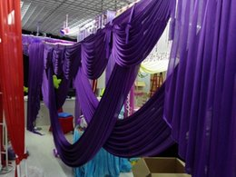 Wholesale Staging Draping - 3m*6m wedding backdrop swag Party Curtain Celebration Stage Performance Background Drape With Beads Sequins Edge wd609
