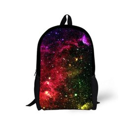 Wholesale Galaxy Pattern Backpack - FORUDESIGNS Fashion Galaxy Backpack,3D Star Sky Pattern Student Backpacks Brand Back Pack Bag For Teenage Kids Soft High Quality