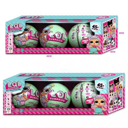 Wholesale Girl Statues - LOL SURPRISE DOLL Sisters Ball 7 Layer Series 2 Surprise Kids Baby Girls Xmas Toy