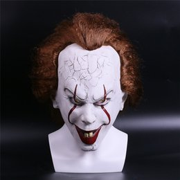 Wholesale latex film - 2017 Movie Stephen King's It Pennywise Clown Joker Mask Tim Curry Horrible Mask Cosplay Halloween Party Prop Clown Mask Latex