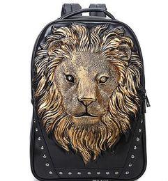 Wholesale Satchel 3d - Factory sales brand bag street Toufeng 3D stereo lion headFactory sales brand bag street Toufeng 3D stereo lion head animal travel bag compu