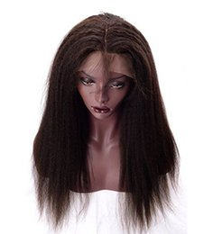Wholesale Yaki Hair Prices - Human Hair Lace Wigs Free Shipping Kinky Straight Textures Fashion Indian Hair Front Lace Wigs With Baby Hair Wholesale Price