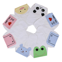 Wholesale Cotton Gauze Bibs - Baby Sweatbands Children Cotton Cute Animal Pattern Pad Towel Soft Gauze Absorbable Sports Sweat Towel Newborn Cartoon Bibs 20CM*26CM