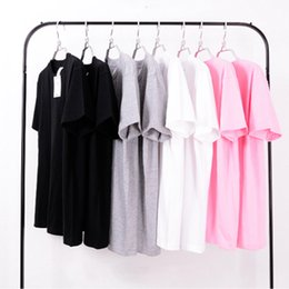 Wholesale Girls Plain Shirts - Top Quality Plain Tee T Shirt For Boys Girls Crew Neck Short Sleeve 100% Cotton T-shirts Unisex Cool Oversized t shirts LLWF0408