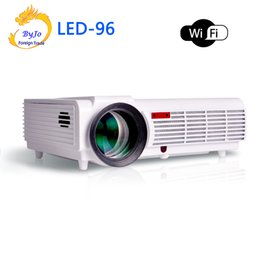 Wholesale 3d Home Theater System - Wholesale- LED96 wifi led projector 3D android wifi hd BT96 proyector 1080p HDMI Video Multi screen home theater Home theater system