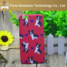 Wholesale Sweet Heart Case Iphone - Sweet Heart Red Color Pet Bulldog Dog for iPhone Case for iPhone Apple 5 5s 6 6s 6plus 6splus