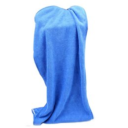 Wholesale car wash wipes - Wholesale- Blue Super Soft Microfiber Car Wipe Cloth Wash Cleaner Cleaning Towel 30X70cm Car Wipe Wash Cloth Tools