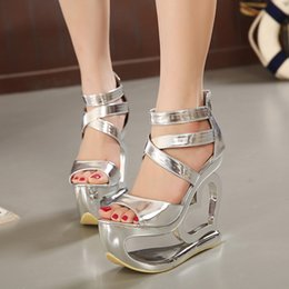 Wholesale Leather Sandals Women American - Amazon's popular summer paragraph European and American fashion star with fish head high-heeled open-toed sandals women European Grand Prix