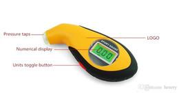 Wholesale Volvo Air - 2015 new LCD digital tire gauge prospective portable air gauge, electronic tire pressure gauge Digital barometer 20pcs a bag