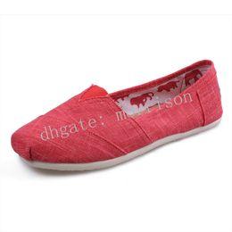 Canada Environnement naturel confort respirant Bambou tissu femmes chaussures de toile Chaussures plates Déodorant chaussures en toile Chaussures de plein air décontractées Offre