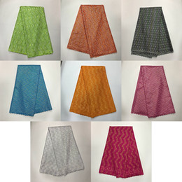 Wholesale Chiffon Material Wholesale - High Quality African Cotton Lace Material Swiss Voile Lace Fabric For party LXM-2