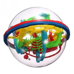 Wholesale Puzzle Maze Toys - Random Color 100rounds 3D Maze Ball Toy 12cm Baby Early Education Intellect Ball Children's Educational Toys Baby Puzzle Toys
