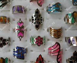 Wholesale Enamel Glaze Rings - Fashion New Enamel Glaze Zinc Alloy Rings For Women Jewelry Wholesale Bulk Lots LR107 Free Shipping