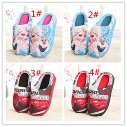 Wholesale Kids Christmas Slippers - 2016 Frozen Elsa Anna Fashion Sneakers Cute Cartoon Christmas Gift Slipper Elsa kids shoes 10 pcs for sales A102020
