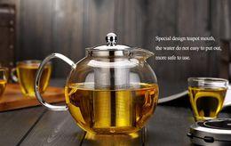 Wholesale Kettle Teapot Set - Glass teapot- 650ml ,960ml and 1300ml Heat-Resisting Clear Pyrex Glass Teapot Coffee Tea Pot Set Juice Kettle .