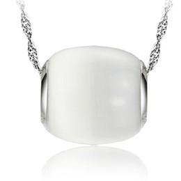 2019 pietre bianche di platino Pendenti di collana di pietra bianca placcati oro platino Gioielli di moda per le donne Accessori da sposa gioielli da sposa regalo pietre bianche di platino economici