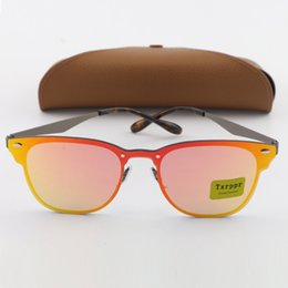 Wholesale Man Guns - 1pcs New Fashion Txrppr 3576N Brand Design Sunglasses Men Women Gun Frame Orange Colorful lens Vintage Classic Quality With Box And Case