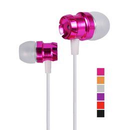 Wholesale Headphone S - For iphone 6 5 Metal Headphones Universal Earphones In-Ear Headset Colorful Cable with Mic For Cellphone iphone6 Xiaomi Samsung Galaxy S HTC