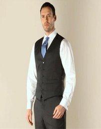 Wholesale Men Satin Waistcoat - 2017 Custom Made Design Slim Fit Light Black Five Button Waistcoat Groom Vests Suit Vest Men Vest