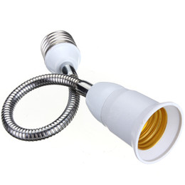 Wholesale Light Screw Bulb Socket - 20 30 40 60cm E27 To E27 Length Flexible Extend Extension LED Light Bulb Lamp Holder Screw Socket Adapter Connecter Converter