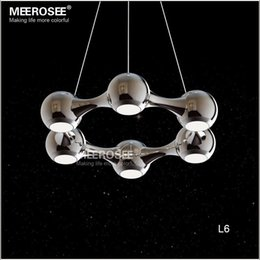 Wholesale Modern Pendent Lights - 6 Rings LED Pendent Light Modern Circle suspension light fixture for Dining Room,Bedroom Hot Selling and Free Shipping pendents