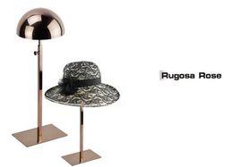 Wholesale Cap Rack Wholesale - Rose gold Metal Hat display stand display rack hat holder cap display hat holder rack
