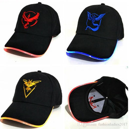 Wholesale Glow Dark Hats - Poke LED Fiber Light Team Hat Glow In The dark Party Hats for men and women Designer Snapback Cap Baseball Caps Fashion Luminous Hats D550