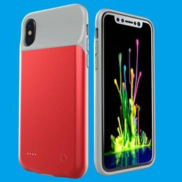 Wholesale External Battery Back Case - 3600mAh External Battery Power Bank Charger Case For iPhone X Ultra Slim Portable Backup Phone Back Cover For iPhone 10