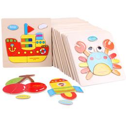 En bois 3D Puzzle Jigsaw En Bois Jouets Pour Enfants Cartoon Animal Puzzles Intelligence Enfants Enfants Jouet Éducatif ? partir de fabricateur