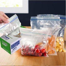 Wholesale Travelling Freezer - A set of 100 pcs Summer travel receive bag 18*17cm Meat freezer bags fruit storage bag LJJH304 50SET