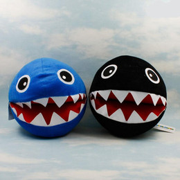 Wholesale Super Mario Brothers Plush - EMS Super Mario Bro Chain Chomp shark Plush Doll toys 7.2inch plush children new Brothers Bowser JR soft Plush 18CM toy B