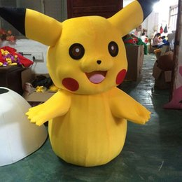 Wholesale Fast Shipping Costumes - 2016 Hot Sale Pikachu Mascot Costume Party Cute party Fancy Dress Adult Children Size Factory Direct Sale Fast Ship