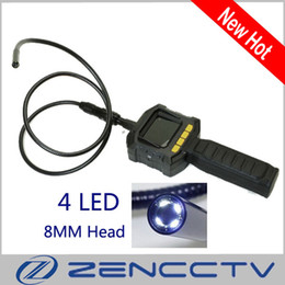 """Wholesale Industrial Lcd Monitor - 2.4"""" LCD Monitor HD Portable Endoscope Camera Industrial Inspection Camera With 8mm lens 1M Flexible Tube 4PCS LED"""
