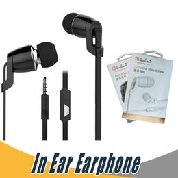 Wholesale Sharp Wear - Langsdom JM38 Earphone Flat Wore Handsfree Headsets with Mic Noise Cancelling Portable Stereo Earbuds For iPhone Samsung Mobile Phone