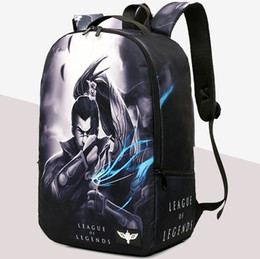 Wholesale Game Backpack - Yasuo backpack The unforgiven lol daypack League of Legends game fans schoolbag Leisure rucksack Sport school bag Outdoor day pack