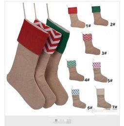 2019 botas de naruto 12 * 18 pulgadas 2017 Nuevo canvaschristmas Nueva Navidad medias de regalo bolsas de Navidad media calcetines decorativos de Navidad para niños dulces bolsas de fiesta