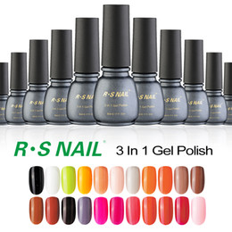 Wholesale Gel Unhas - Wholesale- RS one step uv gel lucky soak off unhas de gel nail polish set of nail lacquers varnish professional gel varnish 3 in 1 China
