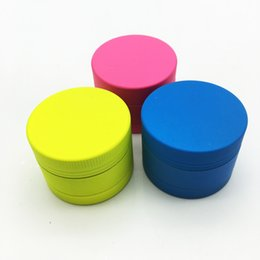 Wholesale Smoke Candy - New Fashion Rubber Paint Candy Colored Smoking Grinder 40mm 3 Layers Mini Crusher Spice Pollen Herbal Pipe Tobacco Herb Grinder