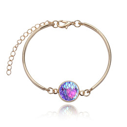 Wholesale Mermaid Bracelet Charms - new Fashion mermaids cuff Bracelet for women Crystal Mosaic MultiLayer Vintage Ethnic Statment Bracelets Women Jewelry Gift free shipping
