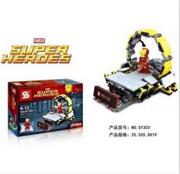 Wholesale Del Boy - Sy303 Marvel Avengers 2 Super Heroes Iron Man armilar demoler tablero Minifigures juguete del ladrillo Compatible con Legoe