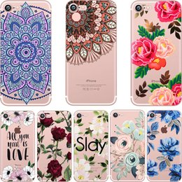 Wholesale Clear Flower Iphone Case - Paisley Rose Flowers Soft Crystal Clear transparent TPU Case for iPhone X 10 8 7 6 6s Plus 5S 5C Case