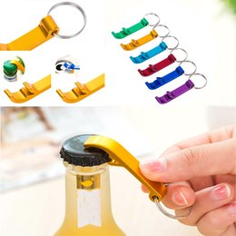 Wholesale alloy opener - Portable Stainless Steel Bottle Openers Creative Keychain Ring Alloy Beer Wine Can Bar Club Waiter Kitchen Tools WX-C25